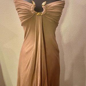 Sky Brand Snake Embellished Strapless Dress